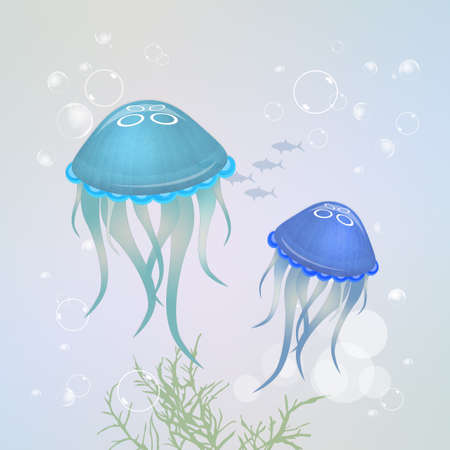 venomous: jellyfishes in the ocean