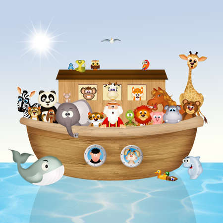 noahs: illustration of Noahs ark