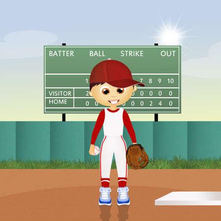 ballplayer: child play baseball