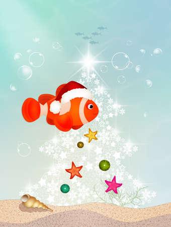 clown fish at Christmas
