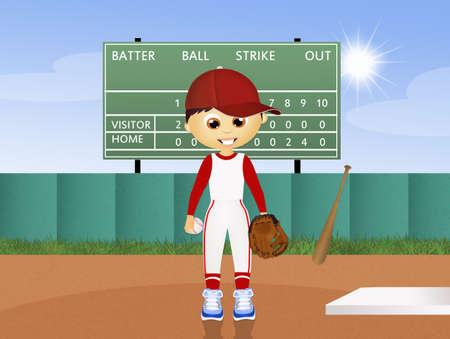 ballplayer: illustration of ballplayer