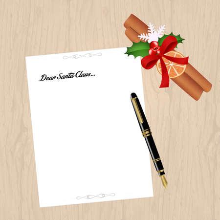 wishlist: letter of Santa Claus Stock Photo