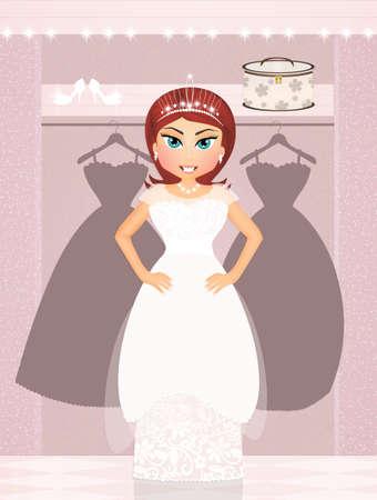 wedding dress fitting Stok Fotoğraf