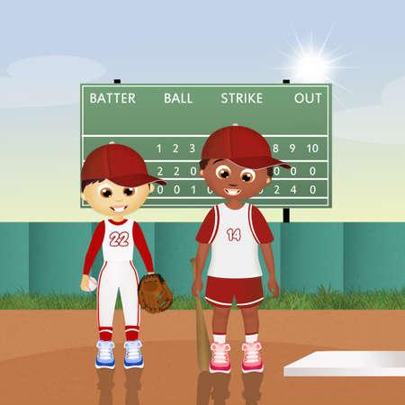 children at play: children play baseball