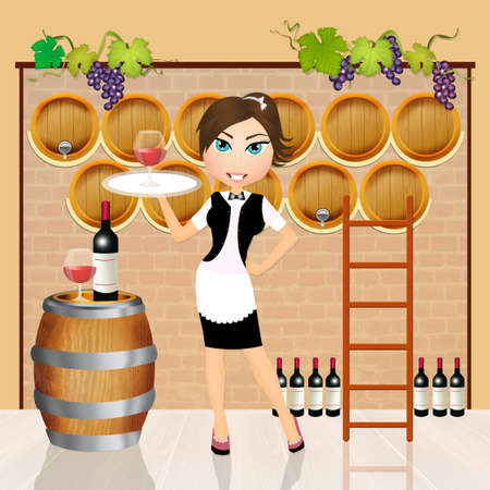 hogshead: girl in the winery