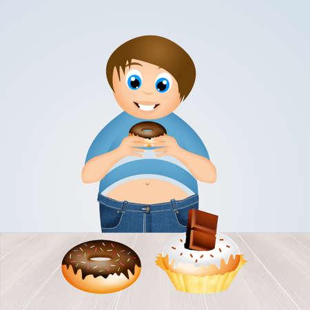 eats: child eats sweets