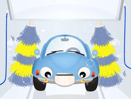 car wash: wash the car