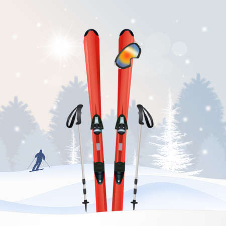 equipment: ski equipment in winter