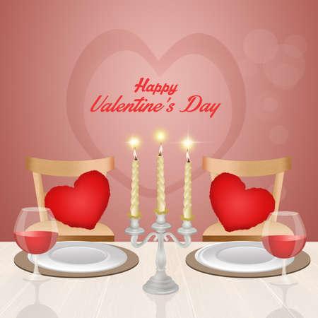diner romantique: dîner romantique pour la St Valentin Banque d'images