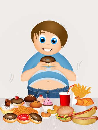 overweight: overweight boy