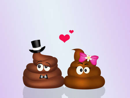 Marriage of poop Stock Photo