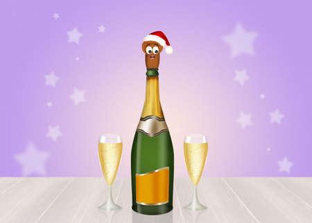 uncork: Christmas toast Stock Photo