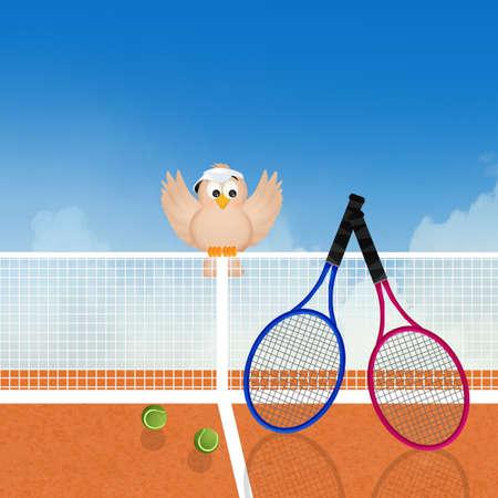 illustration of play tennis