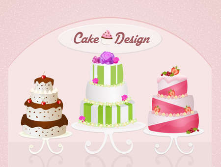 made to order: various types of cakes