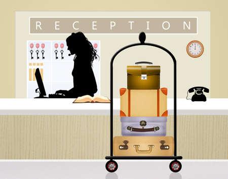 reception: illustration of reception Stock Photo