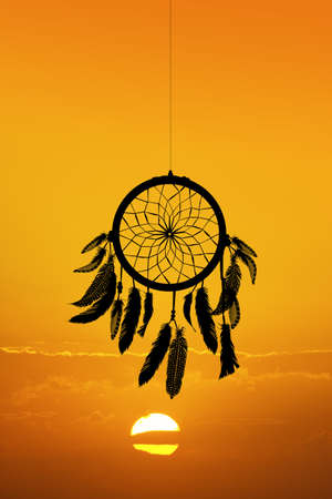 the dreamcatcher at sunset Stock Photo