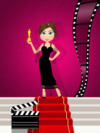 Oscars nominations red carpet Stock Photo