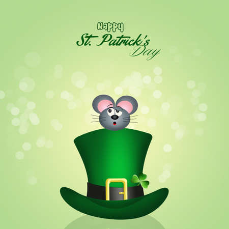 irish culture: St. Patricks hat Stock Photo