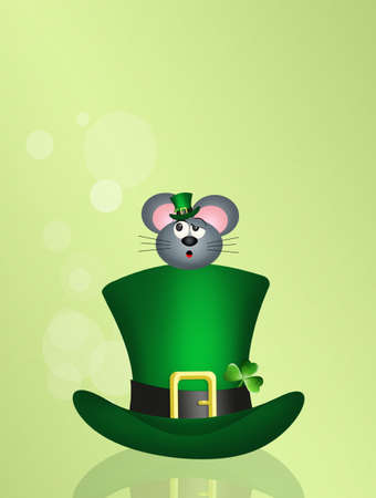 irish culture: mice on St. Patricks hat