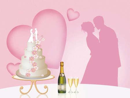 wedding cake: cutting the wedding cake