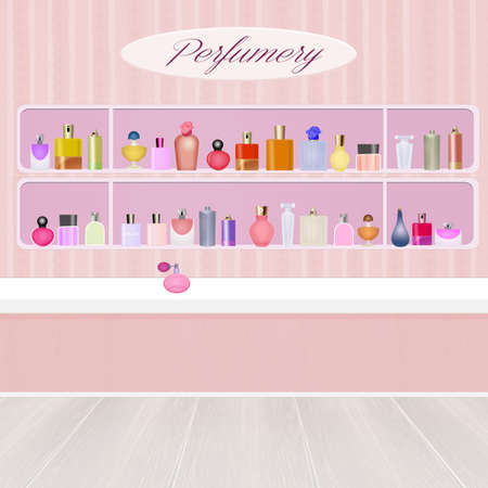 perfumery: illustration of perfumery