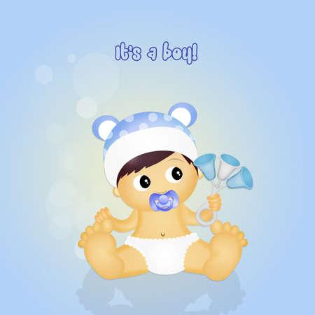 sonaja: masculina bebé con traqueteo