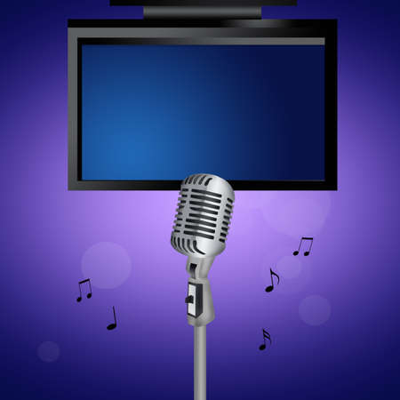 illustration of karaoke