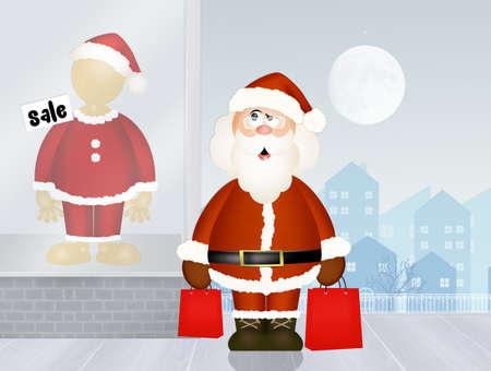 Santa Claus goes shopping