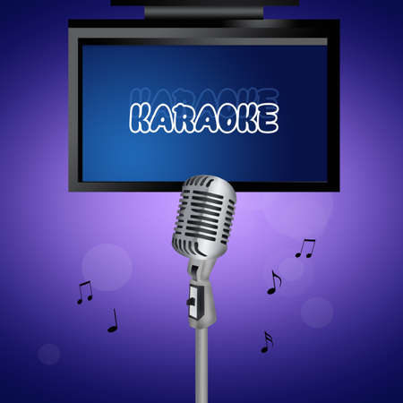 televisor: illustration of karaoke