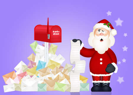 Santa Claus and childrens letters