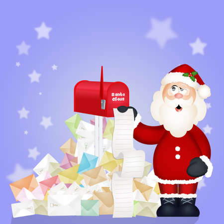 Christmas letters for Santa Claus Stock Photo
