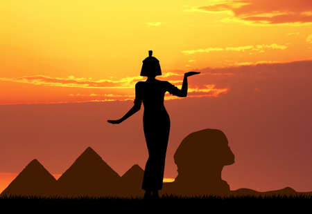 Cleopatra queen in Egypt Stock Photo