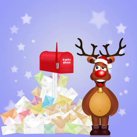 Letter for Santa Claus Stock Photo