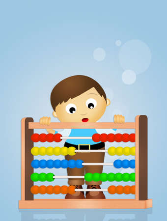 child with abacus Stock Photo - 69457502