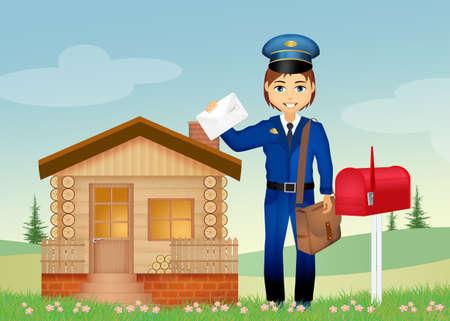 postman la livraison des lettres Banque d'images