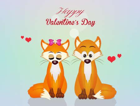 Valentines postcard Stock Photo