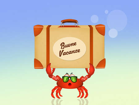 holidays: crab on holidays