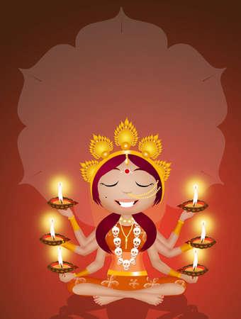 Goddess Kali for Diwali Stock Photo