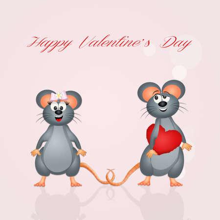 funny Valentines postcard Stock Photo