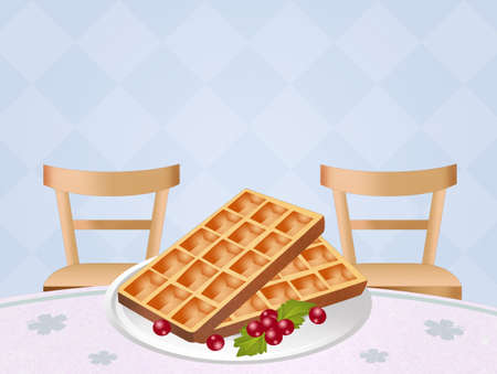 wafles: waffles