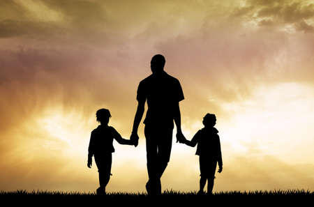 father: father and children