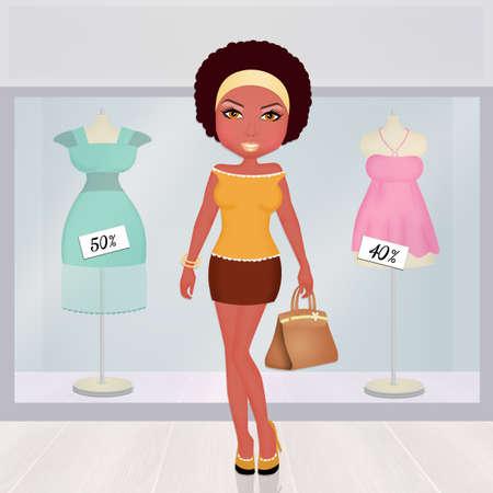 Black Woman Go Shopping