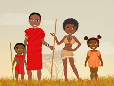 family: African family