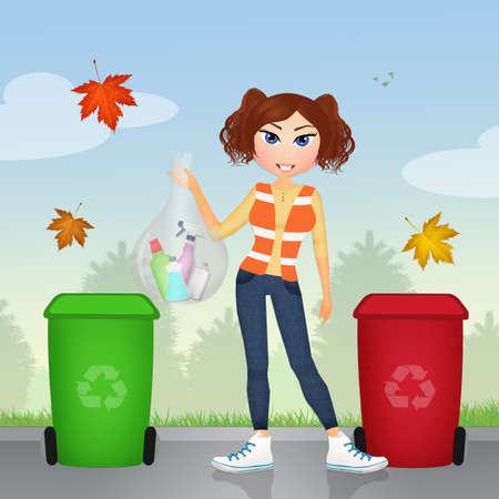 ecologically: Ecologically responsible garbage collecting