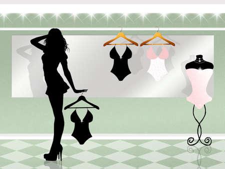 Unterwäsche-Shop Standard-Bild - 71987949