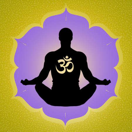 illustration of yoga Reklamní fotografie