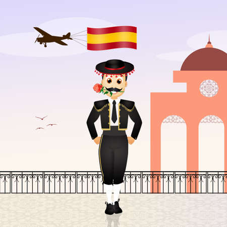 torero: welcome in Spain Stock Photo