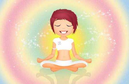 human energy: Seven Chakras symbols