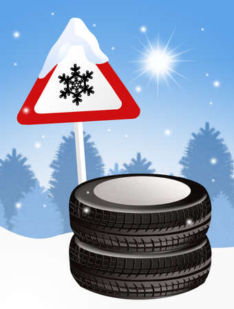 snow tires: tires of the car from snow
