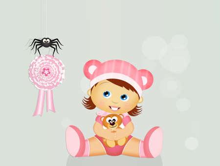 ribbon for baby girl Stock Photo